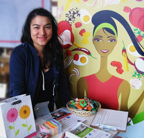 Former Staff Member, Christina Ibarra, at the 2010 Washington High School Freshman Parent/Student Day