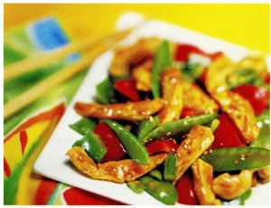 Foodie Tuesday – Sesame Chicken with Peppers and Snow Peas