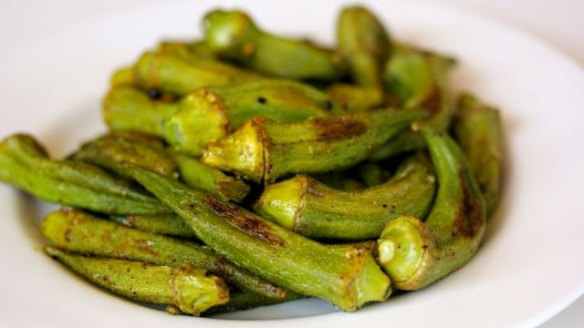 roasted okra with creole seasoning