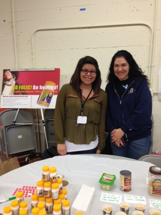 Amanda, SFSU Health Education Intern and Marcia, Balboa Teen Health Center Health Educator and Fair Organizer