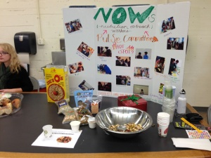 The NOW (Nutrtion Outreach Workers) table at the Balboa High School Nutrition & Health Fair