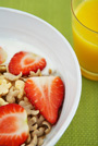 cereal with strawberries - high in folate and folic acid