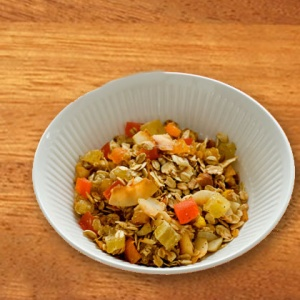 tropical fruit nut and oat snack mix
