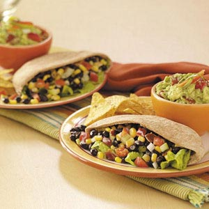 Whole Wheat Pita Pockets with Black Beans and Corn