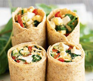 Whole Wheat Tortilla Veggie Wrap