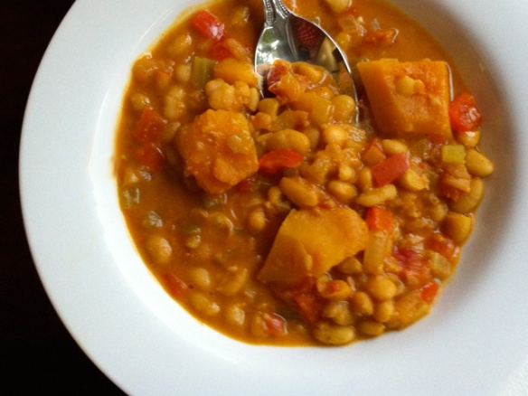 Slow Cooker Pumpkin and White Bean Stew